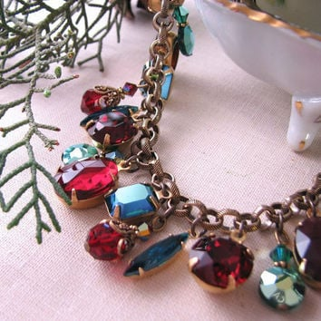 CHRISTMAS charm bracelet vintage by shadowjewels