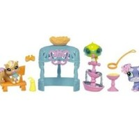 Littlest Pet Shop Figures Themed Playset Stroll in Central Park Sunshine Stroll
