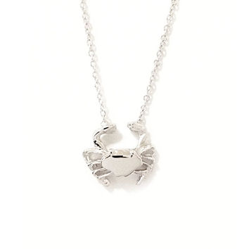 Solid 14K Gold Baby Crab Charm Pendant Necklace {available in Yellow, White or Rose Gold}