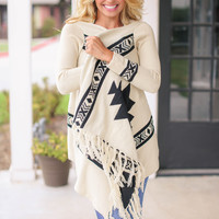 Mad About You Aztec Cardigan - Cream