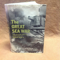 WW II History Book - The Great Sea War - 1960 - Potter and Nimitz