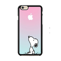 Snoopy Gradient Pink Mint Custome Apple Logo iPhone 6 Case CaseClassy