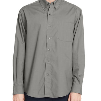 PREMIUM Mens Relaxed Wrinkle Free Long Sleeve Button Down Shirt