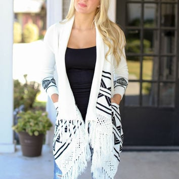 Showing Up Cardigan - Ivory