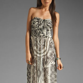 Twelfth Street By Cynthia Vincent Bermudian Draped Bodice Maxi Dress in Zebra Tie Dye from REVOLVEclothing.com