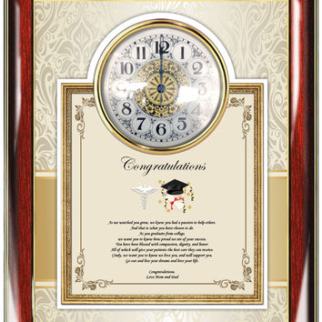 Medical School Graduation Clock Frame