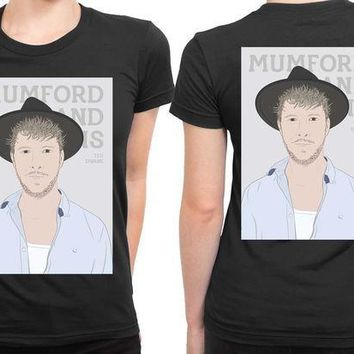 ESBH9S Mumford And Sons Ted Dwane Vektorize 2 Sided Womens T Shirt