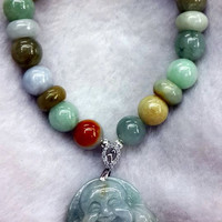 Business And Money Luck Bracelet | Jade with Buddha