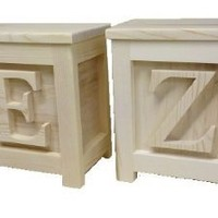 TWO Wooden Block Step Stools - Made to Order Unpainted