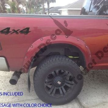 4X4 SHADOWED TRUCK BED SIDE VINYL DECAL FOR CHEVY DODGE FORD NISSAN TOYOTA
