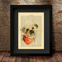DOG Art Print ,Dictionary Art Print, Cute Dog Art Print, Vintage Dictionary Page Style, Wall Art, Dictionary art, Dictionary print  -14