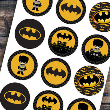 picture relating to Batman Cupcake Toppers Printable known as Retail store Superhero Toppers upon Wanelo