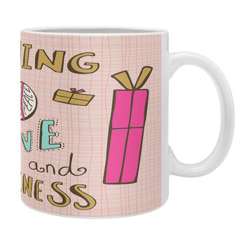 Heather Dutton Peace Love And Happiness Coffee Mug