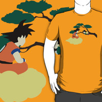 Goku and Son Gohan, minimalist design, dragon ball z