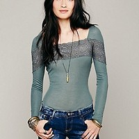 Rib and Lace Layering Top