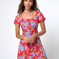 Zavacca Tea Dress in Vintage Fleur by Motel