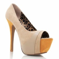 two-tone-peep-toe-pumps COBALT TAUPE - GoJane.com