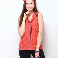 Shyra Printed Top - Coral Online Shopping | 64741