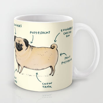 Anatomy of a Pug Mug by Sophie Corrigan | Society6