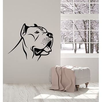 Vinyl Wall Decal Dog Head Pet Shop Home Grooming Animal Stickers Mural (g2747)