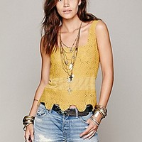 Textured Flower Crop Cami