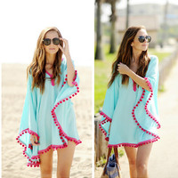 Loose Tassel Beach Cover Up