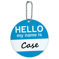 Case Hello My Name Is Round ID Card Luggage Tag
