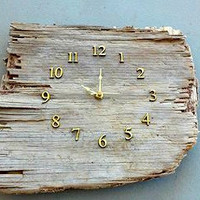 Driftwood Clock, Beach Clock, Wood Clock, Rustic Clock, Wood Wall Clock, Reclaimed Wood Clock, Unique Wall Clock, Driftwood Furniture