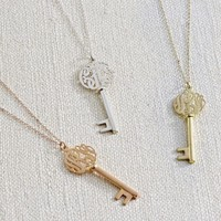 Initial Reaction Monogram Key Pendant