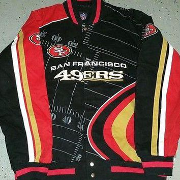 SAN FRANCISCO 49ERS   Franchise TWILL JACKET NEW ,3X-- LICENSED NFL APPAREL