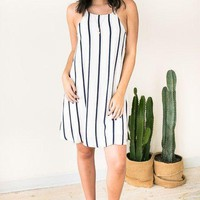 Porch Swing Angel Striped Dress