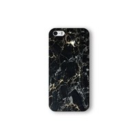Iphone 5/5s Case, Black Marble Print 3d-sublimated, Mobile Accessories Marble 04.