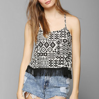 Staring At Stars Fringe Super Cropped Top - Urban Outfitters