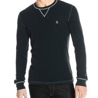 Original Penguin Men's Waffle Crew-Neck Shirt