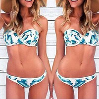Floral Bikini Swimwear SET Padded Bra Swimsuit Bathing Suit