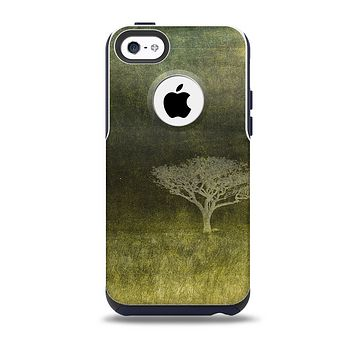 Deep Green Tree Pastel Painting Skin for the iPhone 5c OtterBox Commuter Case