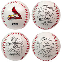 2013 Team Roster Signature Ball - Saint Louis Cardinals