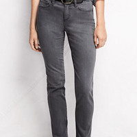 Women's Fit 2 Mid Rise Straight Leg Jeans - Smoke from Lands' End