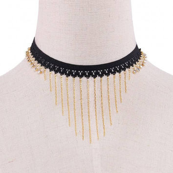 Tassels Pendant Choker Necklace