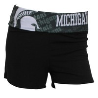 Michigan State Spartans Cameo Ladies Shorts
