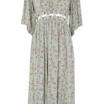 Ditsy Lattice Smock Dress - New In Fashion - New In