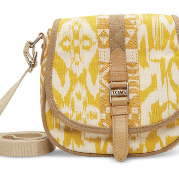 TOMS Saffron Ikat Traveler Crossbody bag