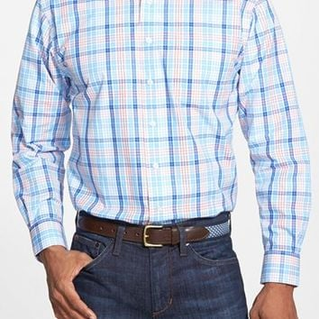 Men's Vineyard Vines 'Murray' Classic Fit Check Poplin Sport Shirt,