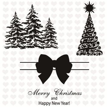 GJCrafts Clear Stamp and Cutting Dies Scrapbooking Christmas Tree Bow Snowflake DIY Card Making Decorative Christmas Set Stamps