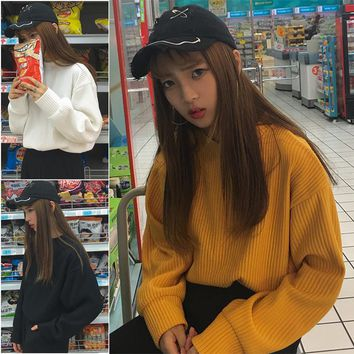 Ulzzang Bat Sleeve Sweater
