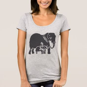 Elephants Women's Scoop Neck T-Shirt