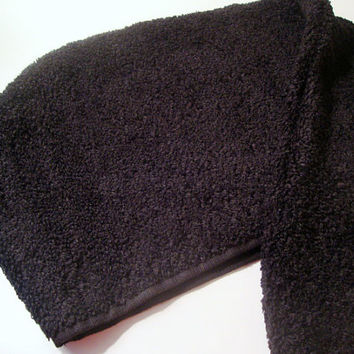 BLACK Hair Towel - Personalized Head Towel - Turban Towel - Hair Wrap - Head Wrap - 100% Cotton Hair Towel - Custom Towel