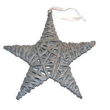 Star twig wreath door hanger, Star door hanger, Star twig hanger, Twig door hanger