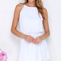 Spice Up Your Life Ivory Lace Dress
