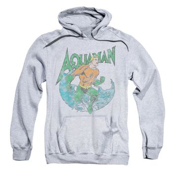 DC Comics Men's  Marco Hooded Sweatshirt Grey Rockabilia
